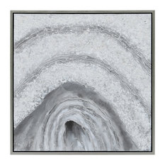 Gray Cave Abstract Textured Metallic Hand Painted Wall Art by Martin Edwards