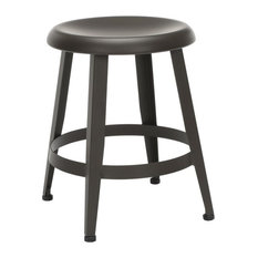 18-inch Table Metal Stool Antique Brown