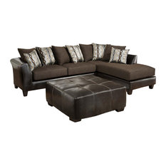 Flash Furniture   Flash Furniture RS 4174 01SEC GG Sable Chenille Sectional