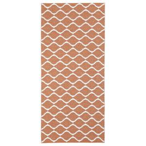 Wave Woven Vinyl Floor Cloth, Rust, 150x250 cm