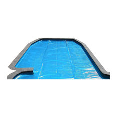 Rectangular Heat Wave Solar Blanket Swimming Pool Cover, Blue, 12'x24'