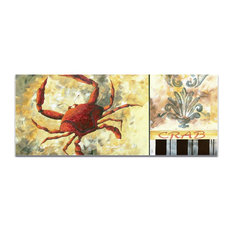 Coastal Decor 'Crab', Beach Wall Art on Acrylic