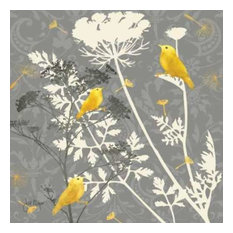 Gray Meadow Lace I by Jill Meyer Canvas Print