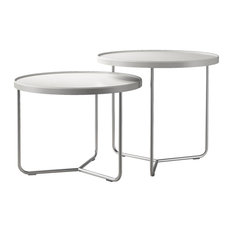 2-Piece Adelphi Nesting Side Table Set, Alpine Reclaimed Leather
