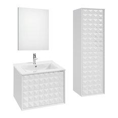 Zirco Bathroom Vanity Set, White