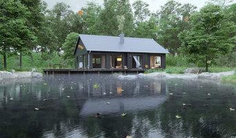 3D Architektenhäuser