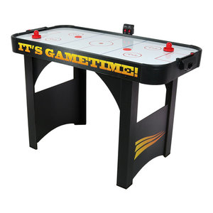 """Sunnydaze 48"""" Air Hockey Recreational Game Table, Scorers and Accessories"""