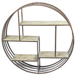 Sagebrook Home - Wall Shelf, Metal/Wood, Brown - Sagebrook Home has been formed from a love of design, a commitment to service and a dedication to quality. We create and import fashion forward items in the most popular design styles.