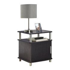 Altra Furniture   Altra Furniture Carson End Table With Storage In Espresso  Finish   Side Tables