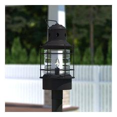 "Hyannis 10"" Outdoor Post Light, Textured Black"