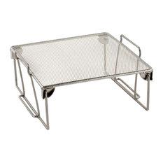 Design Ideas Silver Wire Mesh Stuff Storage Shelf