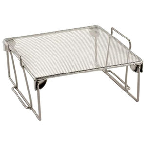 Design Ideas Silver Wire Mesh Stuff Storage Shelf