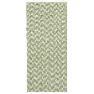 Ella Olive Green Vinyl Floor Cloth, 70x300 cm