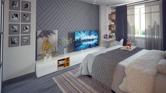 Дизайн-проект интерьера квартиры 42 кв. м.