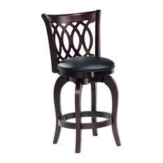 Homelegance Edmond Swivel Pub Chairs, Set of 2