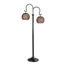 Kenroy 32246BRZ Castillo - Two Light Outdoor Floor Lamp