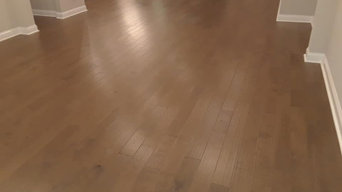 Wood floor cleaning project for a home builder in Jacksonville, Florida.