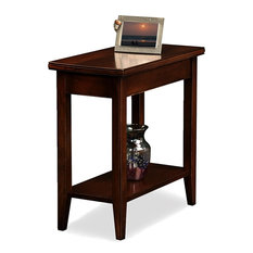 Modern Chairside End Table Solid Hardwood With Open Lower Shelf For Storage
