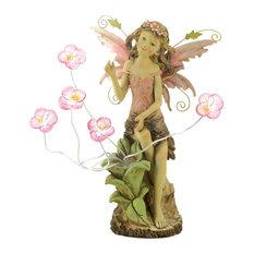Peony Fairy Solar Statue