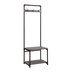 Organize It All - Manchester Industrial Entryway Hall Tree - Coatracks and Umbrella Stands