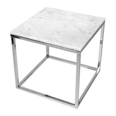 """Prairie 20""""x20"""" End Table With Marble Top"""