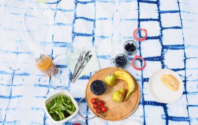 DIY: Eine Picknickdecke im Batik-Look