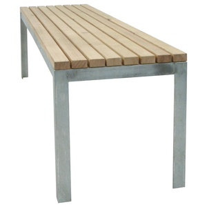 Outdoor Panel Bench, No Backrest