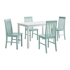 Grayson 5-Piece Dining Set with Colorful Chairs, Sage