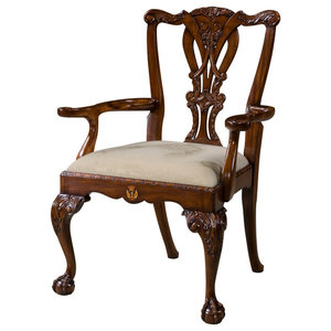 Theodore Alexander Althorp Living History Crested Arm Chair