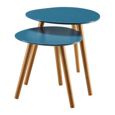 convenience concepts oslo nesting end tables set of 2 blue coffee table
