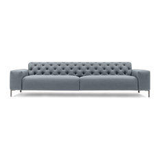 Pianca   Boston Sofa, Gray Velvet, Medium   Sofas