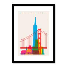 Shapes of San Francisco, Framed Giclee Art Print