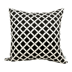 Outdoor Black Bamboo Large Pillow