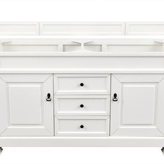 "Brookfield 60"" Double Cabinet Cottage White - Base Cabinet Only"