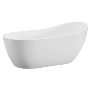 "Modern Freestanding Bathtub, 54"""