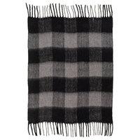 Grant Throw Blanket, Medium Gray/Black