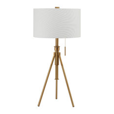 Ore International 32 5 To 37 Tall Adjule Table Lamp W Gold Finish