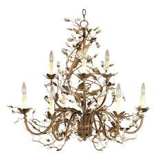 Leaf vine motif chandeliers houzz 1st avenue persephone 9 light chandelier etruscan gold chandeliers aloadofball Image collections