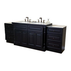 93 Inch Double Sink Vanity-Dark Mahogany