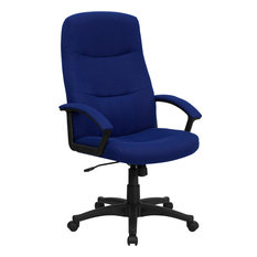 Flash Furniture   Flash Furniture High Back Navy Blue Fabric Executive  Swivel Office Chair   Office