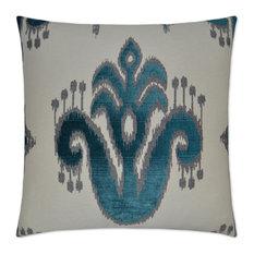 Caseeah Teal Feather Down Decorative Throw Pillow, 24x24