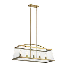 Kichler Darton Linear 5-LT Chandelier 52123BNB - Brushed Natural Brass