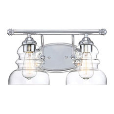 Millennium Lighting 2-Light Vanity Light, Chrome, Clear, 7332-CH