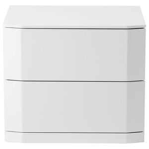 Manhattan New White Bedside Table