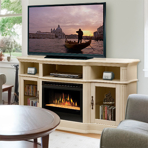 Dimplex - Portobello Parchment Electric Fireplace Entertainment Center with  Glass Embers - Indoor Fireplaces - Electric Fireplace TV & Media Consoles