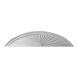 Half Round Sunburst Pediment, 48