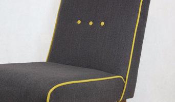 Mid-Century Style Grey Chair