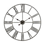 Solange Round Metal Wall Clock, Gray, 30""