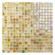 "Breeze 0.62""x0.62"" Glass Mosaic Tile, Country Breeze"
