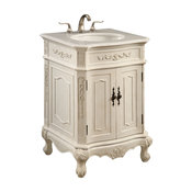 Elegant Lighting Signature Vanity Cabinet 2-Door, Antique White